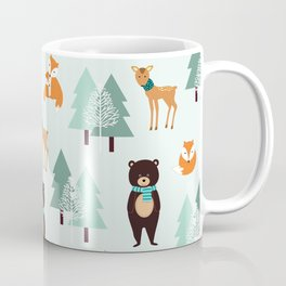 Animals in the winter - pattern #society6 Coffee Mug