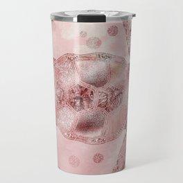 Glamour Turtle Rose Gold Travel Mug