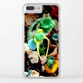 Gum Wall Clear iPhone Case