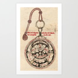 Libros del saber (1276) - Diagram of an Astrolabe Art Print