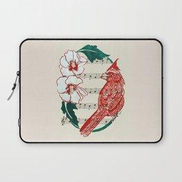 The Birds Chorus  ( Cardinal and Rose of Sharon) Laptop Sleeve