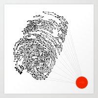 the Fingerprint Art Print
