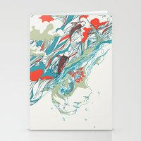huebucket Stationery Cards featuring Colours In The Sky by Huebucket