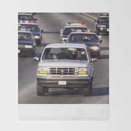 OJ Simpson Car Chase Throw Blanket