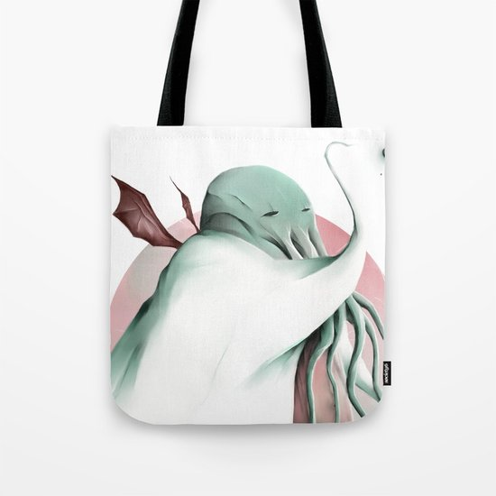 Cthulhu, conqueror of all worlds Tote Bag