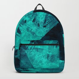glowing neon abstract art Backpack