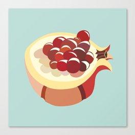 pomegranate fruit illustration Canvas Print