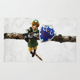 legend of zelda link snow figma Rug