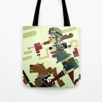 tank girl Tote Bags featuring Tank Girl by Gabriela Zurda