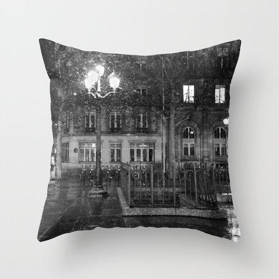 Paris road Throw Pillow