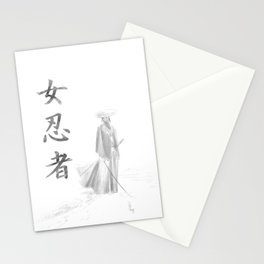 Kunoichi- The snow path Stationery Cards