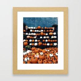 Pumpkins for Sale (Color) Framed Art Print