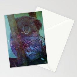 Sleeping Koala in a Tree Stationery Cards