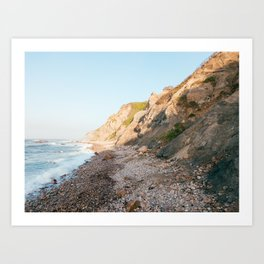 Mohegan Bluffs, Block Island Art Print