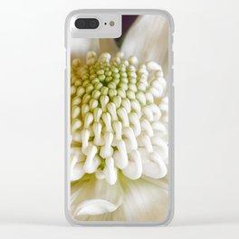 White Waratah Flower Clear iPhone Case