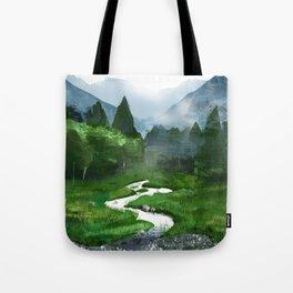 Forest River Illustration  Tote Bag