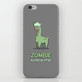 Zombie Alpacalypse iPhone Skin