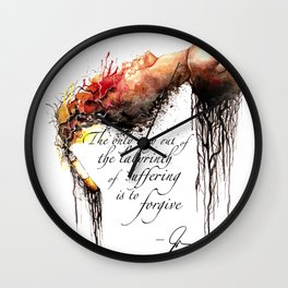 Labyrinth of Suffering Wall Clock