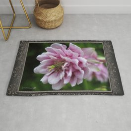 Double Columbine named Pink Tower Rug
