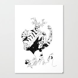 Swamp Thing stomps Canvas Print
