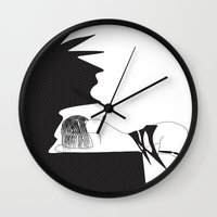 yoga Wall Clocks featuring yoga by March Hunger