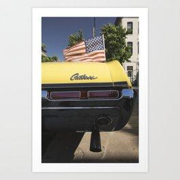 'Cutlass' classic american auto oldsmobil e Art Print