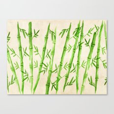 Bamboo Pattern Canvas Print