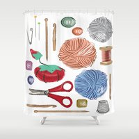 sewing Shower Curtains featuring Sewing by Jennifer Epstein