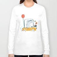 birthday Long Sleeve T-shirts featuring Happy birthday! by Villie Karabatzia