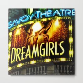 Savoy Theater Marque of Dreamgirls Broadway Musical portrait painting by Jeanpaul Ferro Metal Print