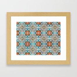 Seamless Floral Pattern Ornamental Tile Design : 1 Framed Art Print