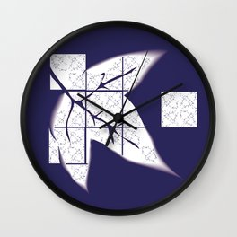 Murasaki leaf Wall Clock