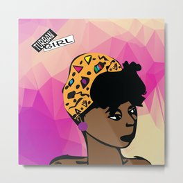 Turban Girl Metal Print