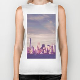 New York City Skyline Waterfront Biker Tank