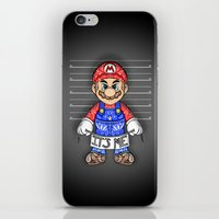 mario kart iPhone & iPod Skins featuring It's ME, Evil Mario !  by Art & Be