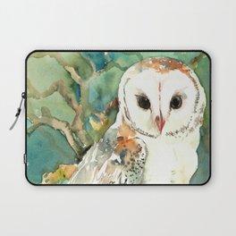 Barn Owl, woodland design owl Laptop Sleeve
