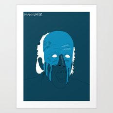 Manhunter psycho Blue Art Print