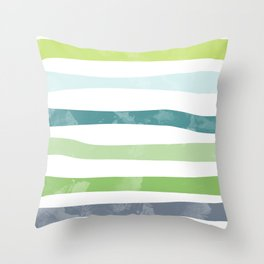 Watercolor stripes Throw Pillow