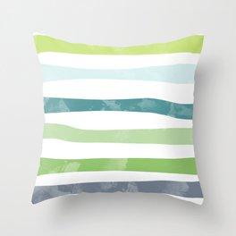 Watercolor stripes Throw Pillow