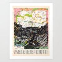 arizona Art Prints featuring Arizona by Ursula Rodgers