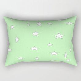 Mint Green Stars Rectangular Pillow