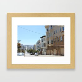 view from a cable car Framed Art Print
