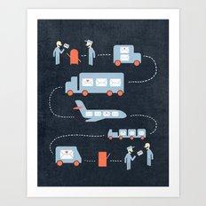 Postal Service Art Print