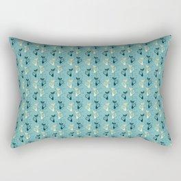Atomic kitty Rectangular Pillow