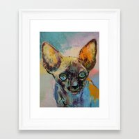 sphynx Framed Art Prints featuring Sphynx by Michael Creese