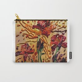 Red Irises Carry-All Pouch