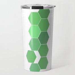 """Hexagon """"die grünen Waben"""" Travel Mug"""