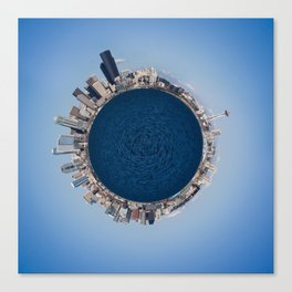 Planet Seattle Canvas Print