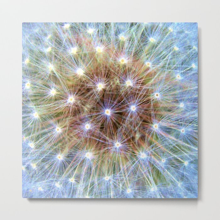 Luminous Colorful Blowball Metal Print