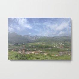 Mountain village Metal Print